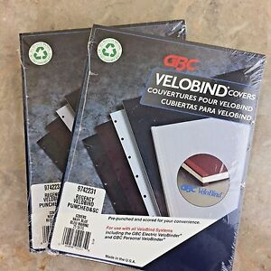 Gbc Navy Regency Velobind Covers 8 5 X 11 Pre punched Scored Model 9742231