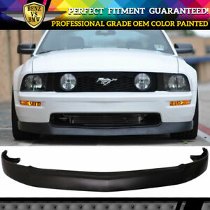 Fits 05 09 Ford Mustang V8 Gt Style Front Bumper Lip Spoiler Oem Painted Color