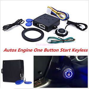 Keyless Entry Car Push Button Rfid Lock Engine Starter Ignition Immobilizer Tool