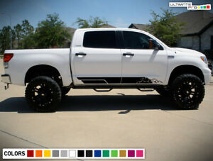 Door Decal Vinyl Graphic Sticker Kit For Toyota Tundra Sport Offroad Handle Sill