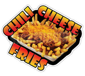 Chili Cheese Fries Concession 48 Decal French Sign Cart Trailer Stand Sticker
