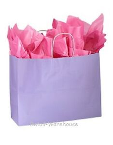 Paper Shopping Bags 100 Glossy Lavender Retail Gift Merchandise 16 X 6 X 12