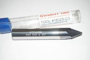 Harvey Tool 1 2 4fl Carbide 25 Pointed Chamfer Cutter Altin Coated 18325 c3