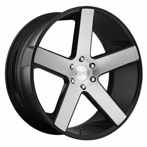 Dub Baller S217 Rim 24x10 6x5 5 Offset 30 Gloss Black Brushed Quantity Of 4