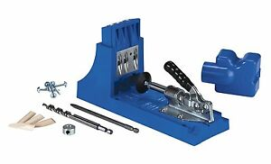 Kreg Pocket Hole System Power Tool Woodworking Wood Jointer Kit Jig Screw Drill