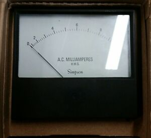 Simpson 1359 Analog Ac Amp Panel Meter Qty 1