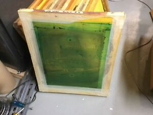 10 Used Wood Silk Screen Printing Frames 20 X 24 For Cleaning And Re use