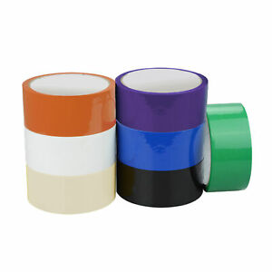 36 Rolls Clear Color Packaging Tape 2 x110 Yards 2 Mil W Free Tape Dispenser