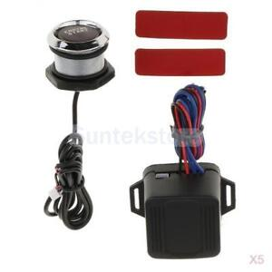 5x Universal Car Engine Start Push Button Switch Ignition Kit With Red Led