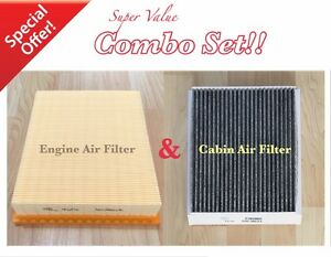 Carbonized Cabin Engine Air Filter For Ford Edge Fusion Mkz Mkx Continental