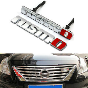 High Quality Metal Red Black Nismo Front Emblem Grill Kidney Badge For Nissan