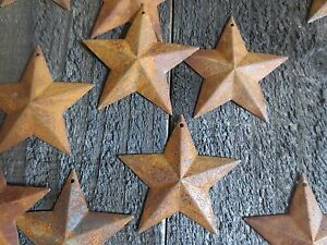 Lot Of 50 Rusty Barn Stars 2 25 Inch Rustic Primitive Country Rusted Dimensional