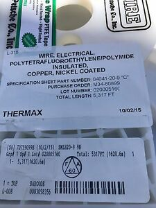 Thermax Wire Electrical Polyetrafluoroethylene polymide Insulated Copper nickel