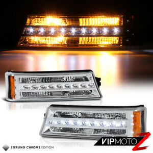 2003 2006 Chevy Silverado 1500 2500 3500 Avalanche led Drl Front Bumper Lights