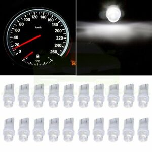 20x White Led Bulbs T10 168 194 2825 Instrument Cluster Panel Dash Spread Light