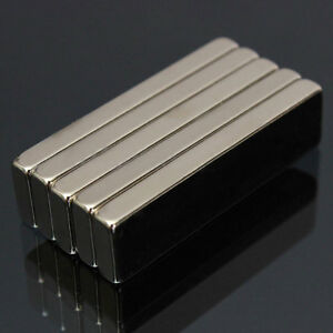 50pcs Big Strong Block Bar Fridge Magnets N50 40 X 10 X 4mm Rare Earth Neodymium