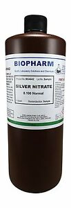 Silver Nitrate 0 100 Normal Standard Solution 1 Quart 950 Ml