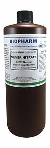 Silver Nitrate 0 0282 Normal Standard Solution 1ml 1mg Chloride For Chloride