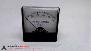 Simpson 06292 Wide vue Analog Dc Milliampere Panel Meter Size 2 1 2 231456