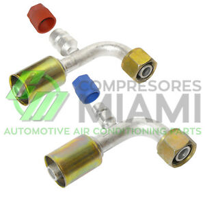 New A C Fittings Beadlock Female O Ring 90 8 10 W R134a Service Ports