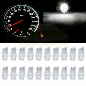 20pcs White T10 W5w 194 158 Led Wedge Instrument Panel Cluster Light For Toyota