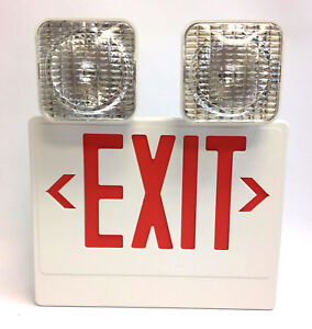 Philips Chloride Led Exit Sign Vcrw Red Combo Lead acid Battery
