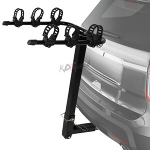 Black Fold up Bike bicycle Rack Car Truck Suv Carrier 2 Receiver Hitch Trailer