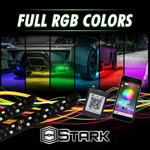 Million Color Led Strip Underglow Underbody Neon Lights Kit App Phone Mid Size