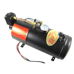 With 3 Liter Tank Air Compressor For Air Horn Train Truck Rv Pickup 150 Psi New