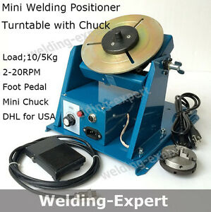 110v Rotary Welding Positioner Turntable Mini 2 5 3 Jaw Lathe Chuck With Video