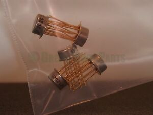 National Semiconductor Lm202h Vintage Gold Leg Transistor Lot X5 Nos