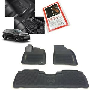 2014 2019 Highlander Floor Mats All Weather Liners Genuine Toyota Pt908 48165 02