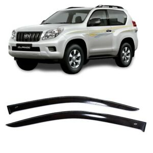For Toyota Land Cruiser Prado 150 3d 2009 18 Window Visors Guard Vent Deflectors