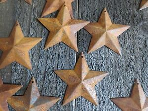 Lot 100 Rusty Barn Stars 2 25 In 2 1 4 Primitive Country Rusted Rust Americana