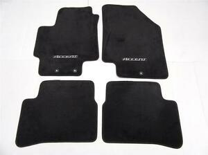 Oem 2006 2011 Hyundai Accent Sedan Black Floor Mats 4 Pc Carpet 1eh14 ac010wk