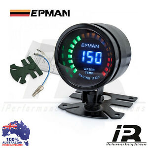 52mm Water Temp Temprature Gauge 2 Epman Racing Smoked Digital Color Analog