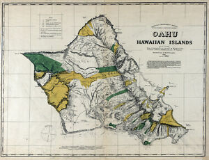1881 Map Of Oahu Hawaiian Islands