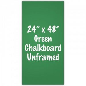 Frameless 24 x 48 Green Chalkboard Menu Board Sign Made In Usa