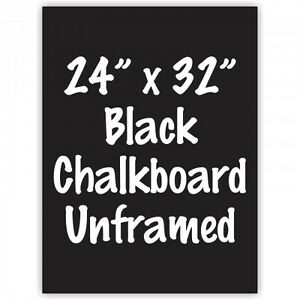 Frameless 24 X 32 Black Chalkboard Menu Board Sign Made In Usa