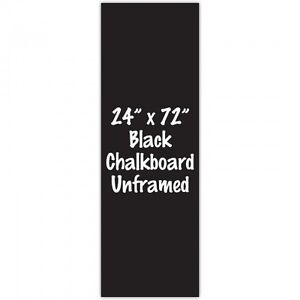 Frameless 24 X 72 Black Chalkboard Menu Board Sign Made In Usa