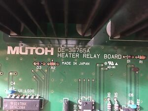 Mutoh Valuejet Heater Relay Board De 36765d V 1604 And Others