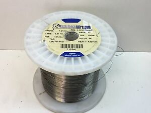 4 200ft 2 5lb Roll Nichrome Resistance Wire 27 guage N6 Alloy 3 3450ohms ft