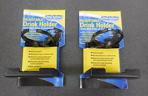 Set Of 2 Black Adjustable Folding Cup Drink Holder For Boat Car Rv W Hardware