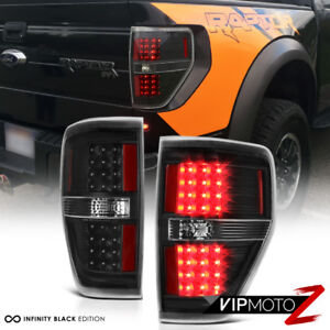 black Out 2009 2014 Ford F150 Led Smd Rear Brake Tail Lights Lamps Pair Lh Rh