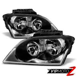 2004 2005 2006 Chrysler Pacifica Factory Style Headlights Headlamp Assembly Pair