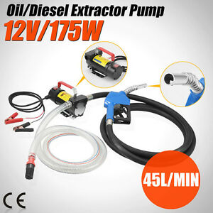Electric Transfer Fuel Pump Diesel Kerosene Oil Commercial Portable 12v Dc