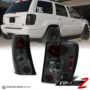 Smoke Left Right For 99 04 Jeep Grand Cherokee Laredo Limited Tail Light Led