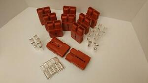 10 Charger Plugs contacts 4awg Anderson Sb175a 600v Forklifts Boats 4x4