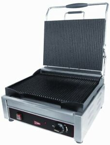 Gmcw Sg1lf Large Single Smooth Panini Grill 14 X 11 Cooking Surface