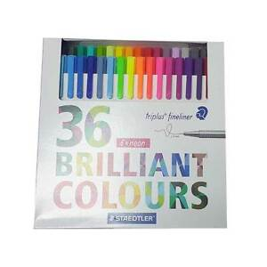 Staedtler Color Pen Set Set Of 36 Assorted Colors Triples Fineliner Pens Marker